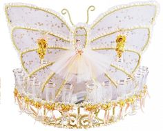 Butterfly Brindis Set - Toasting Glasses Set - Quinceanera Style
