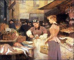 Victor Gabriel Gilbert (France, 1847-1935) ~ Fishseller