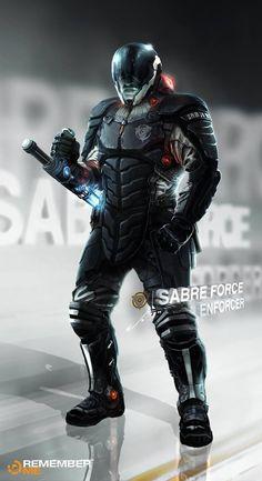 Jamga, sabre force, warior, future, futuristic, sci-fi, futuristic look, military, army, future army, soldier, cyberpunk, cyber warior by Fu...