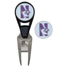 Team Effort NCAA CVX Ball Mark Repair Tool and Ball Marker - Northwestern University