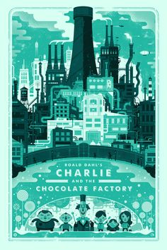 Graham Erwin is currently selling artist copies of two recent posters. His Charlie and the Chocolate Factory poster is a 24″ x 36″ screenprint, has an AP edition of 25, and costs $55.