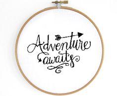 Adventure Cross Stitch Pattern by Crosslings on Etsy https://www.etsy.com/uk/listing/256895960/adventure-cross-stitch-pattern