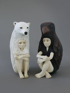 """Remember The Future"" sculptures by Crystal Morey at the Compound Gallery in Oakland CA"