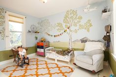 """Finley and Jackson's """"Modern Shabby-Chic"""" Bedrooms & Playrooms — Kids Room Tour 