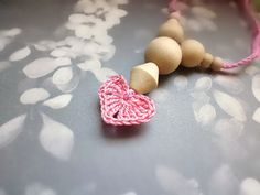 SALE 20%-Nursing necklace/Teething Necklace-Babywearing necklace-Valentine's day-Heart