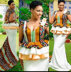 Fabulous ANKARA KITENGE design 2020 for the wedding will be the best to rock that Owambe party you intend going. African Print Dresses, African Print Fashion, African Fashion Dresses, African Dress, African Wedding Attire, African Attire, African Wear, African Style, African Design