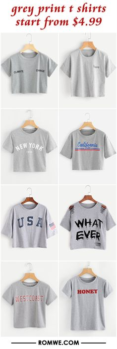 grey print t shirts from $4.99