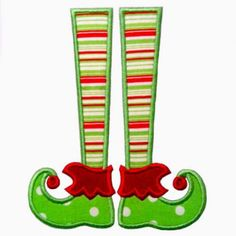 See It All :: Elf Legs Applique - Embroidery Boutique