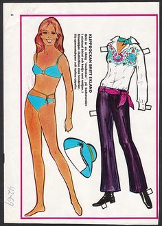 Swedish paper doll of Britt Ekland / eBay