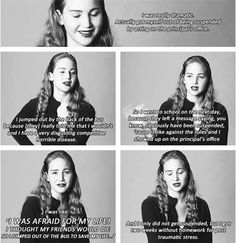 The first thing I ever acted in was… life....just read her story about it, it was freaking funny, no wonder why she is nominated for oscars ahaha the girl can fool anyone ahaha