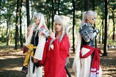 Sesshomaru, Inuyasha, and Inutaisho. Inuyasha cosplay