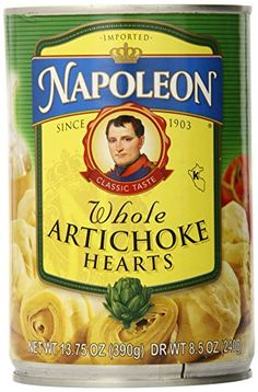 Napoleon Whole Artichokes, 13.75-Ounce Tin (Pack of 6) *** Awesome product. Click the image at  : Quick dinner ideas.