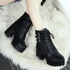 high-heal-shoes Stylish Comfortable Platform High Heel Ankle Boots every girl wants to strut her stu Platform Ankle Boots, Platform High Heels, High Heel Boots, Heeled Boots, Short Heel Boots, Goth Shoes, Hiking Boots Women, White Boots, Long Boots