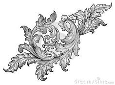 Vintage baroque frame scroll ornament vector Stock Photos - Dreamstime