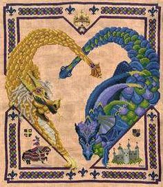 Free Celtic Cross Stitch Charts | black swan designs dragon heart cross stitch pattern cross stitch ...