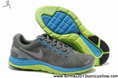 Buy New 524977-007 Nike LunarGlide 4 Mens Suede Grey Blue Glow Silver Newest Now