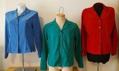 Sag Harbor Set of 3 Women's Blazer Suit Jacket Red Blue Green Size 12 EUC   | eBay