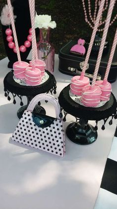 Decorated marshmallows at a Barbie Birthday Party! See more party ideas at CatchMyParty.com!