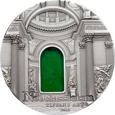 Silver Coins-Tiffany Art Neoclassicism 2 oz $10 Palau 2012 .999 Silver Coin
