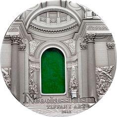 Silver Coins-Tiffany Art Neoclassicism 2 oz $10 Palau 2012 .999 Silver Coin