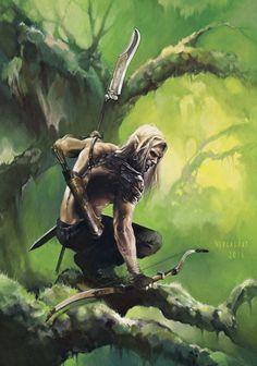 Elf Ranger by Nagy Gergely | Fantasy | 2D | CGSociety