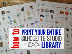 How to print your Silhouette Studio library