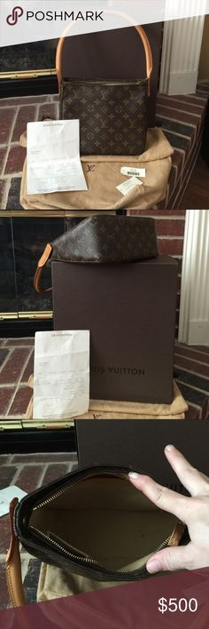 """Authentic Louis Vuitton Vintage Style Shldr Bag. Authentic Louis Vuitton Vintage Style Looping MM Monogram Shoulder Bag. 9.5 x 8.5 x 4. Handle is 23.7"""". Excellent condition. Smoke free home. Brass hardware. Ready to wear. Louis Vuitton Bags Shoulder Bags"""