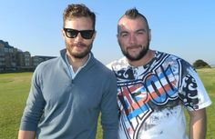 Jamie with a fan @BigCheeseLogan at St. Andrews in Scotland, while attending the Alfred Dunhill Links Championship Practice Round on September 30th, 2015. http://everythingjamiedornan.com/gallery/index.php?cat=22
