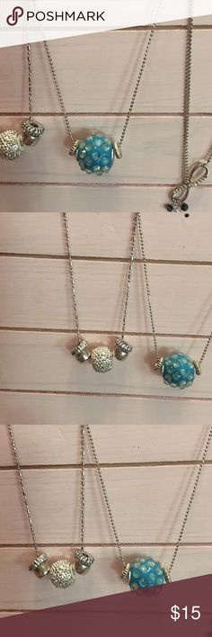 Blue charm necklace NWT New💖💞💕 Custom Crafted in the Great Smoky Mountains with quality gems. Born To Bling Jewelry Necklaces
