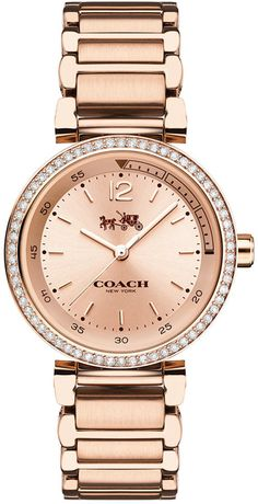 Coach Women's 1941 Sport Rose Gold-Plated Bracelet Watch 30mm 14502200