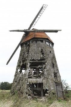 wooden windmill abandoned   # Pinterest++ for iPad #
