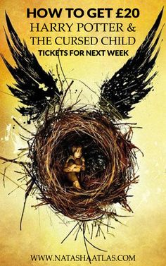 HOW TO GET £20 HARRY POTTER AND THE CURSED CHILD TICKETS FOR NEXT WEEK