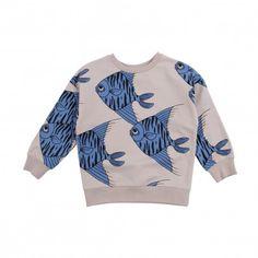 All Over Fish Sweatshirt Blau  Mini Rodini