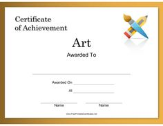 Pin By Brenda Hallam On Certificates    Printable