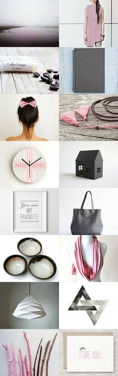 you are my favorite #etsytreasury by Barbara on #Etsy #trends #valentine #gifts #fashion #pink #gray #accessories