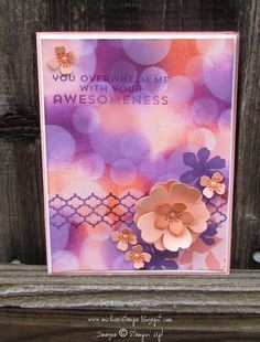 Bokeh Flower Patch Silhouettes by michvan3 - Cards and Paper Crafts at Splitcoaststampers