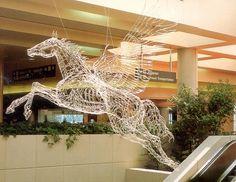 """Brilliant Elegance""... Elizabeth Berrien, internationally recognized wire sculptor."