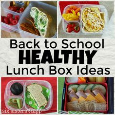 Back to School Healthy Lunch Box Ideas from Six Sisters' Stuff | Try these great school lunch box ideas to keep your kids energized and eating healthy!