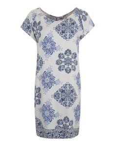 SAINT TROPEZ Sommerkleid blau weiß