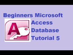 Beginners MS Access Database Tutorial 5 - Creating Microsoft Access Reports