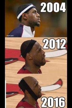 Lebron Hairline Meme and Miami Heat Joke