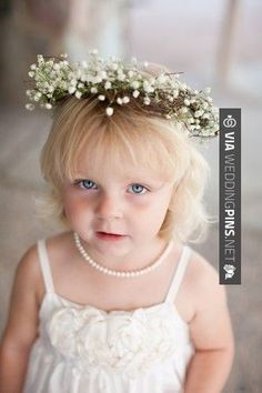 Wow - Classic white flower girl outfit with flower hair wreath | photography by | CHECK OUT MORE GREAT FLOWER GIRL AND RING BEARER PHOTOS AND IDEAS AT WEDDINGPINS.NET | #weddings #wedding #flowergirl #flowergirls #rings #weddingring #ringbearer #ringbearers #weddingphotographer #bachelorparty #events #forweddings #fairytalewedding #fairytaleweddings #romance