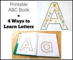 Make a printable ABC book and try these 4 ways to learn and create whether you teach preschool or are focusing on homeschool preschool with your child.