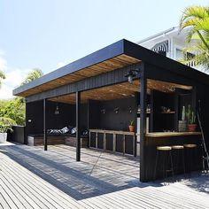 Backyard Pavilion, Backyard Bar, Backyard Patio Designs, Backyard Landscaping, Outdoor Pergola, Outdoor Rooms, Outdoor Living, Gazebo, Outdoor Sheds