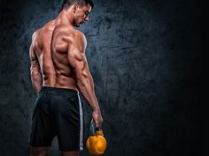 Men's Health magazine: Read our guide to build bigger muscles, biceps, pecs Kettlebell Routines, Kettlebell Training, Weight Training Workouts, Muscle Training, Workout Routines, Training Tips, Strength Training, Gym Workouts, Building Biceps