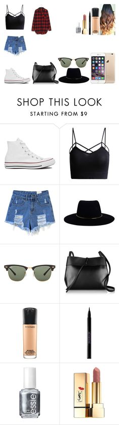 """""""Untitled #423"""" by kalieh092 on Polyvore featuring Converse, Zimmermann, Ray-Ban, Kara, MAC Cosmetics, Urban Decay, Essie, Yves Saint Laurent and Madewell"""