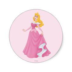 Aurora 3 round sticker