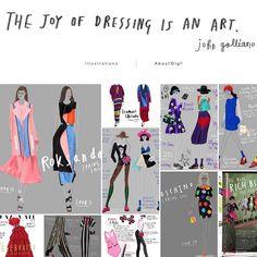 New look for my desktop website! Click click click!  #fashionillustration