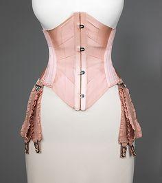 Waist Cincher  J. B. Corset Company  Date: ca. 1908 Culture: American Medium: silk, cotton, metal, whalebone