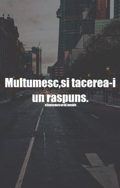 Multumesc , si tacerea-i un raspuns I Can Not, Drama, Your Smile, Inspirational Quotes, Thoughts, Humor, Love, Sayings, Phoenix